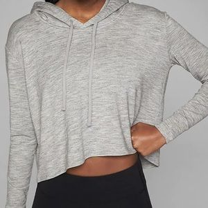 Athleta Grey Cropped Hoodie Sz S
